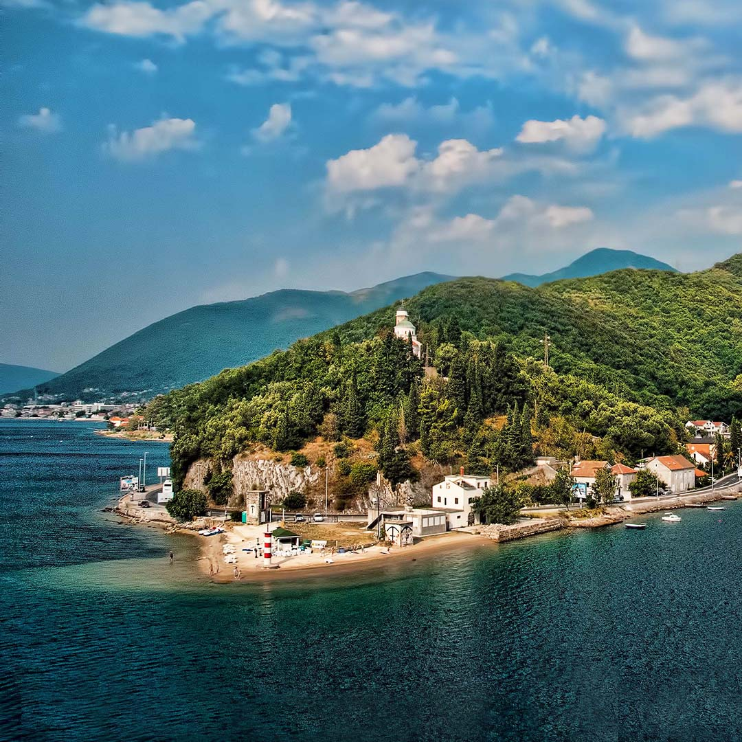 Adriatic coast of Montenegro